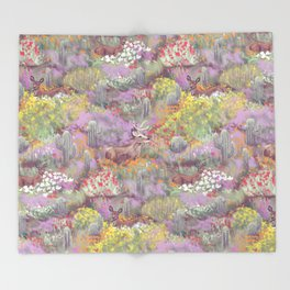 Life in Death Valley Throw Blanket