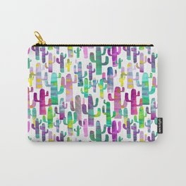 Watercolor Cacti - Pinks - Saguaros Carry-All Pouch
