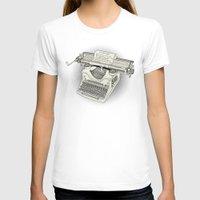 typewriter T-shirts featuring typewriter by Borja Espasa