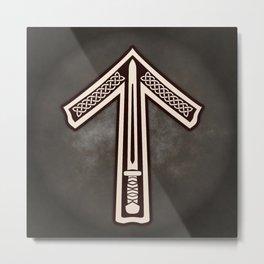 Tyr Rune of the Viking Futhark (Tiwaz to the Saxons) Metal Print