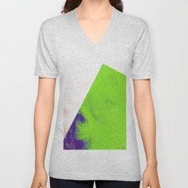 green triangle Unisex V-Neck