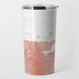 white paint with peeling rose gold foil Travel Mug