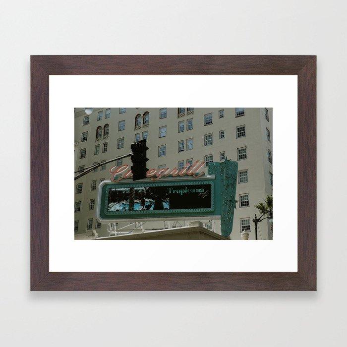 Hollywood Tropicana Framed Art Print