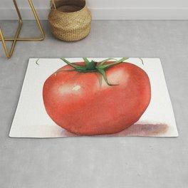 Tomato Watercolor Rug