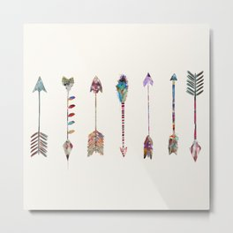 seven little arrows Metal Print
