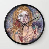 gemma Wall Clocks featuring Lady by Gemma Pallat by ToraSumi