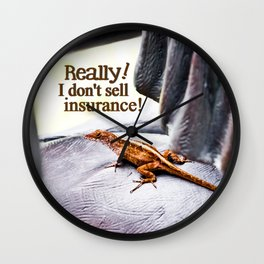 Doesn't Sell Insurance Wall Clock