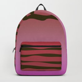 Wild pink design Exotic lines Backpack