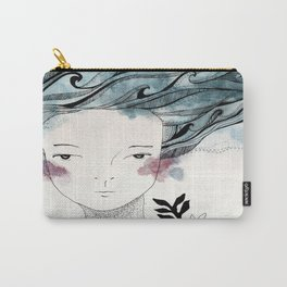 One With the Sea // ink //watercolor   Carry-All Pouch