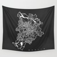 berlin Wall Tapestries featuring BERLIN by Nicksman