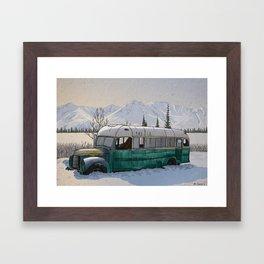 Into the Wild Fairbanks Bus Framed Art Print