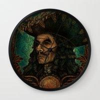 hook Wall Clocks featuring Hook by ManuelDA