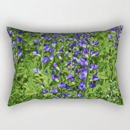 Blue False Indigo aka Baptisia Australis Rectangular Pillow