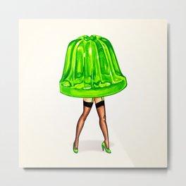 Green Jello Pin-Up Metal Print