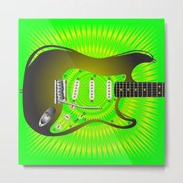 Splash Guitar Metal Print