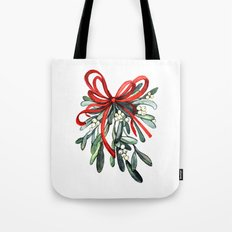 Branch of mistletoe Tote Bag