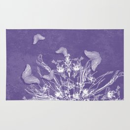 ghost bouquet and butterflies Rug