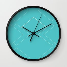 Teal Diamonds Wall Clock