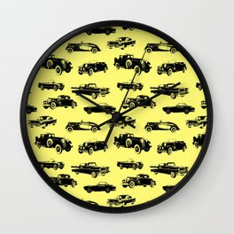 Classic Cars // Yellow Wall Clock