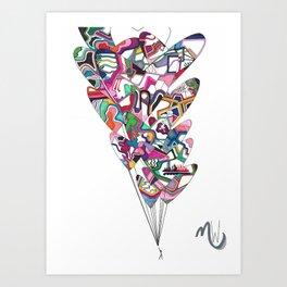 Letting Go of Love Art Print