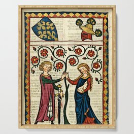 Codex Manesse: Bernger von Horheim Serving Tray