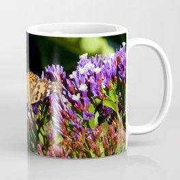 Painted Lady on Statice Blooms Coffee Mug