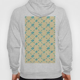 Floral Geometric Pattern Hawaiian Ocean and Sand Hoody