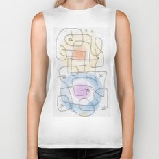 maze with color circles Biker Tank