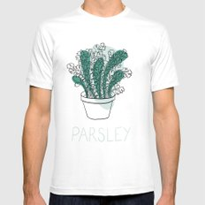 Parsley White Mens Fitted Tee MEDIUM