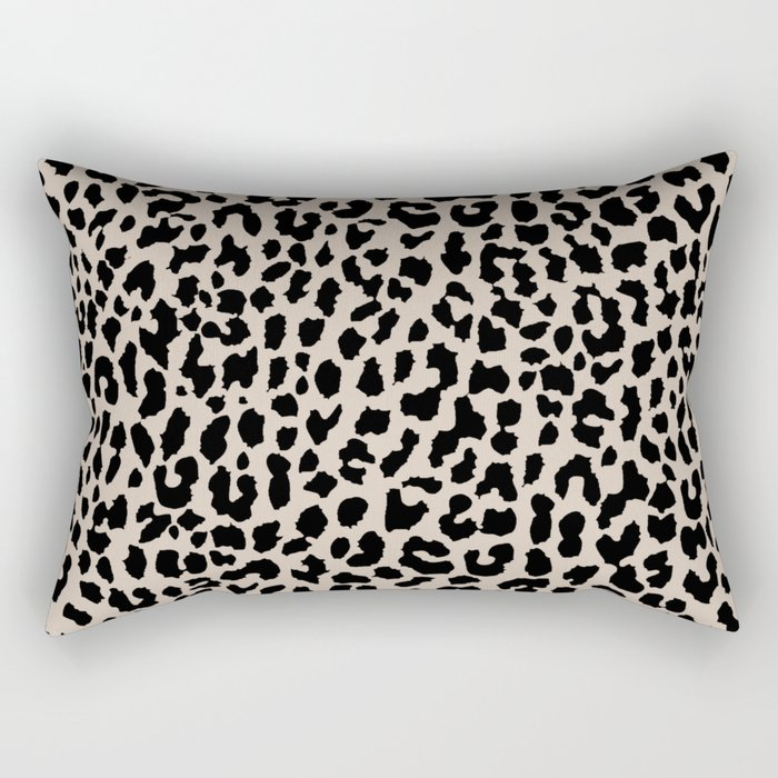 Tan Leopard Rectangular Pillow