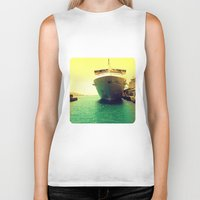boat Biker Tanks featuring Boat by chauloom