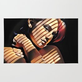 2686s-JG Beautiful Jessica Striped by Sunlight Through Window Blinds Rug