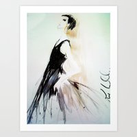Isabellas Evening Gown Art Print