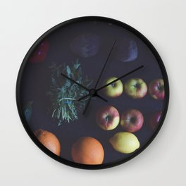 Organic fruits and vegetable Wall Clock