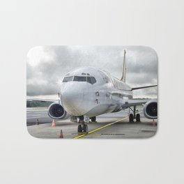 The plane at the airport on road Bath Mat