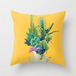 Arid garden Throw Pillow