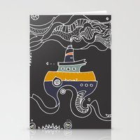 boat Stationery Cards featuring Boat by inktheboot