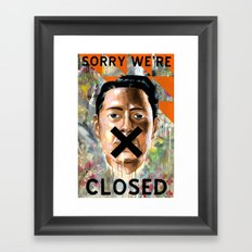 Sorry We're Closed Framed Art Print