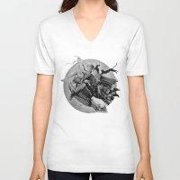 hocus pocus V-neck T-shirts featuring Hocus Pocus Halloween Fun by Stung Designs