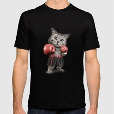 BOXING CAT Mens Fitted Tee Black MEDIUM