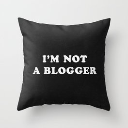 Blogger Throw Pillow