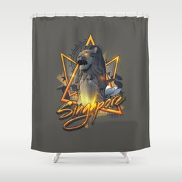 Singapore's Special Shower Curtain