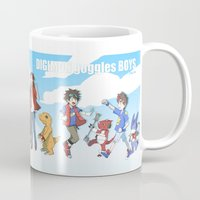 digimon Mugs featuring digimon boys by luttu