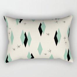 Mid Century diamonds geometrical pattern retro Rectangular Pillow