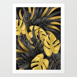Tropical Gold Art Print