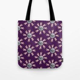 Floral Moon Purple Tote Bag