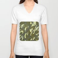 camouflage V-neck T-shirts featuring Camouflage  by Ethna Gillespie