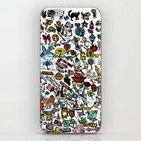 the 100 iPhone & iPod Skins featuring 100 things by Michelle Behar