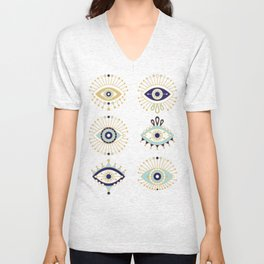 Evil Eye Collection Unisex V-Neck