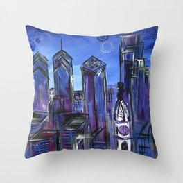 Starry Philadelphia Throw Pillow